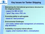 key issues for tanker shipping