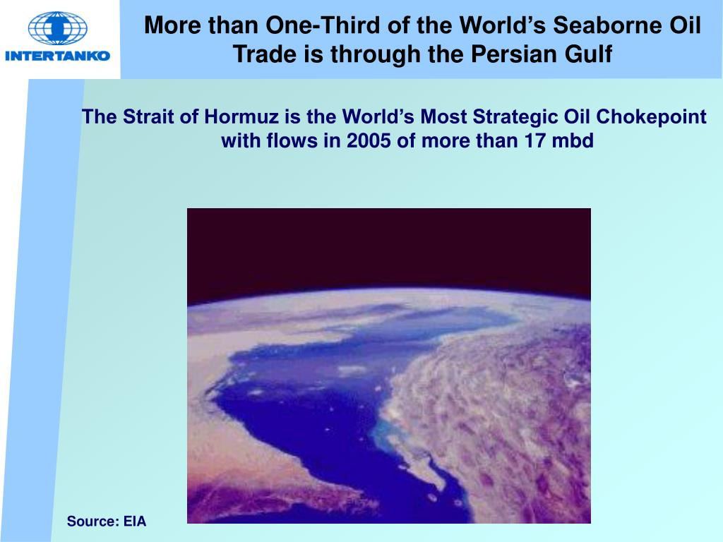 The Strait of Hormuz is the World's Most Strategic Oil Chokepoint with flows in 2005 of more than 17 mbd