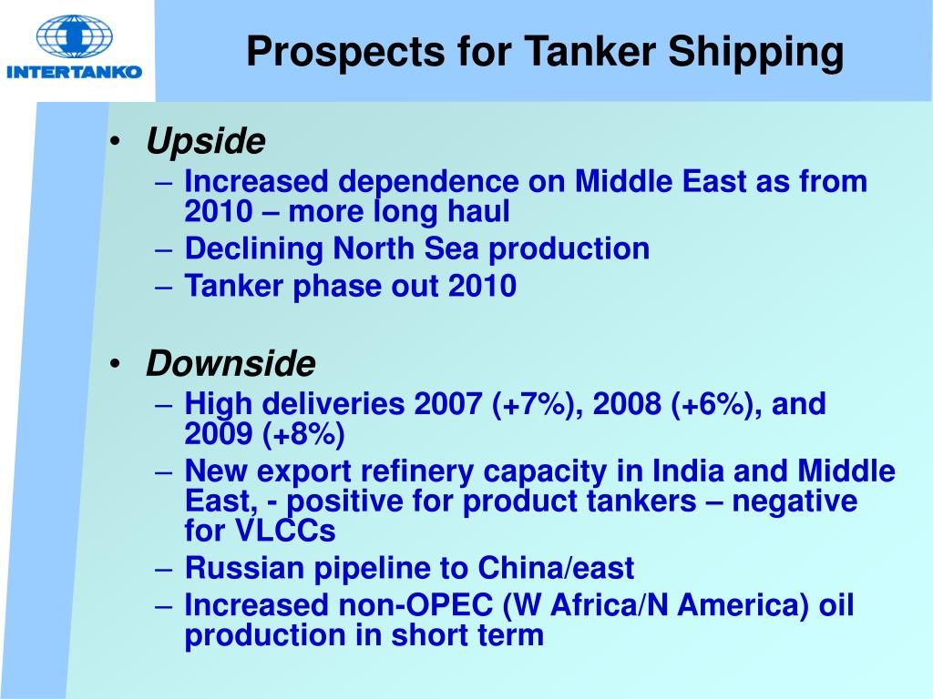 Prospects for Tanker Shipping