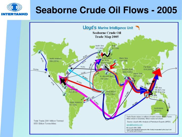Seaborne crude oil flows 2005