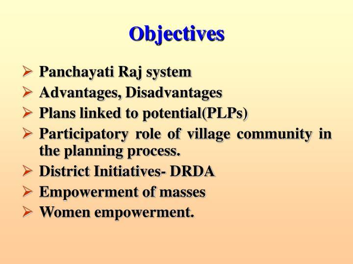 advantages and disadvantages of village