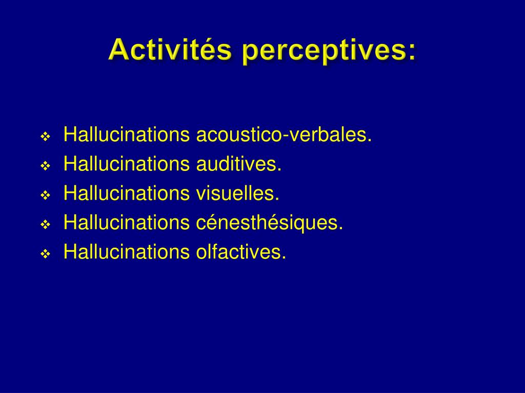 Activités perceptives: