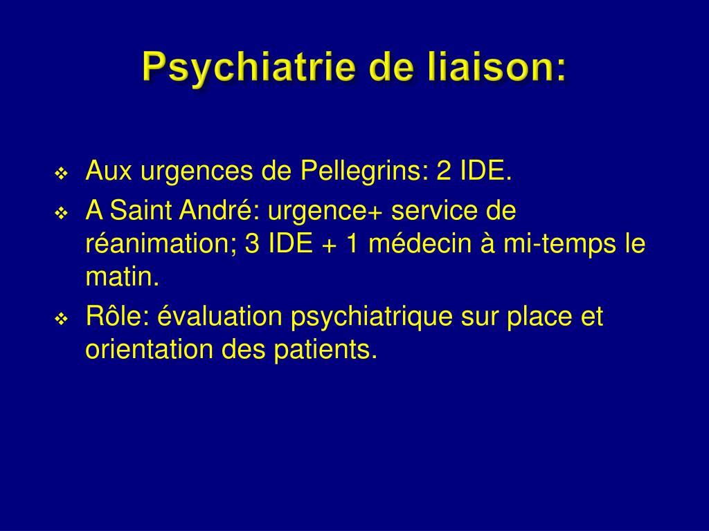 Psychiatrie de liaison: