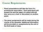 course requirements12