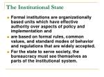 the institutional state20