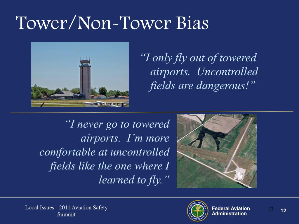 Tower/Non-Tower Bias