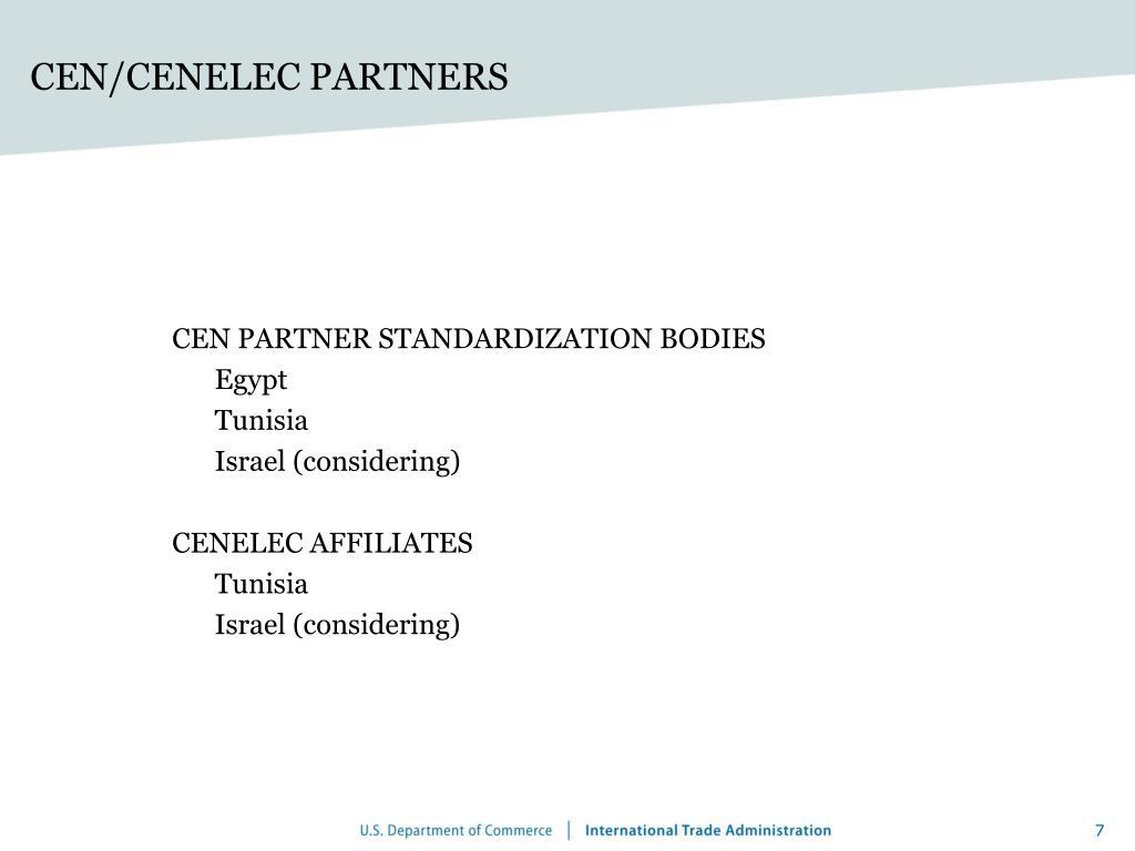 CEN/CENELEC PARTNERS