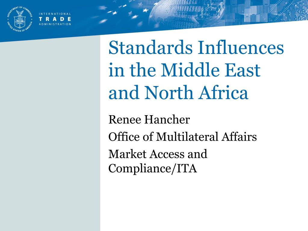 standards influences in the middle east and north africa l.