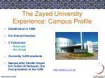the zayed university experience campus profile