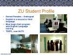 zu student profile