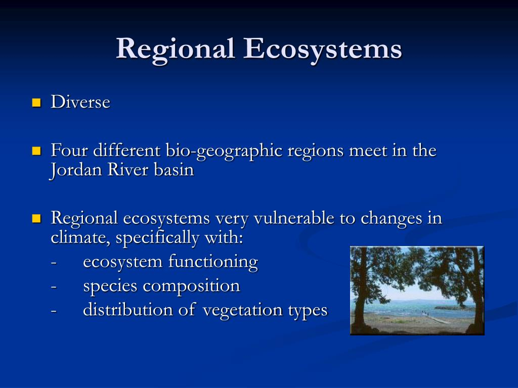 Regional Ecosystems