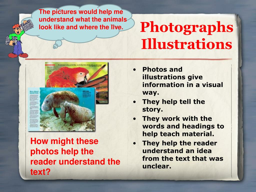 The pictures would help me understand what the animals look like and where the live.