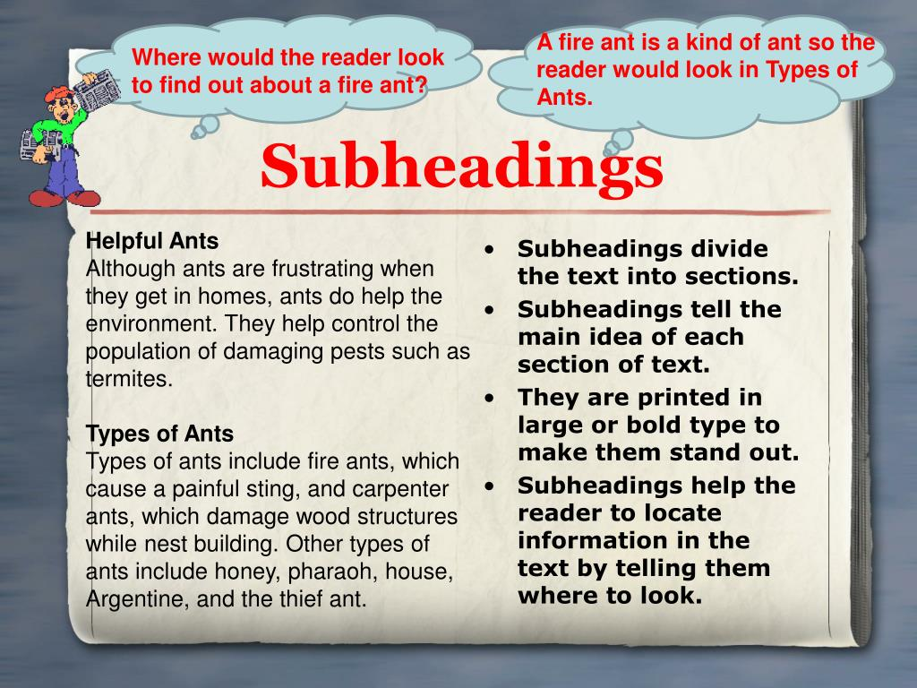 A fire ant is a kind of ant so the reader would look in Types of Ants.