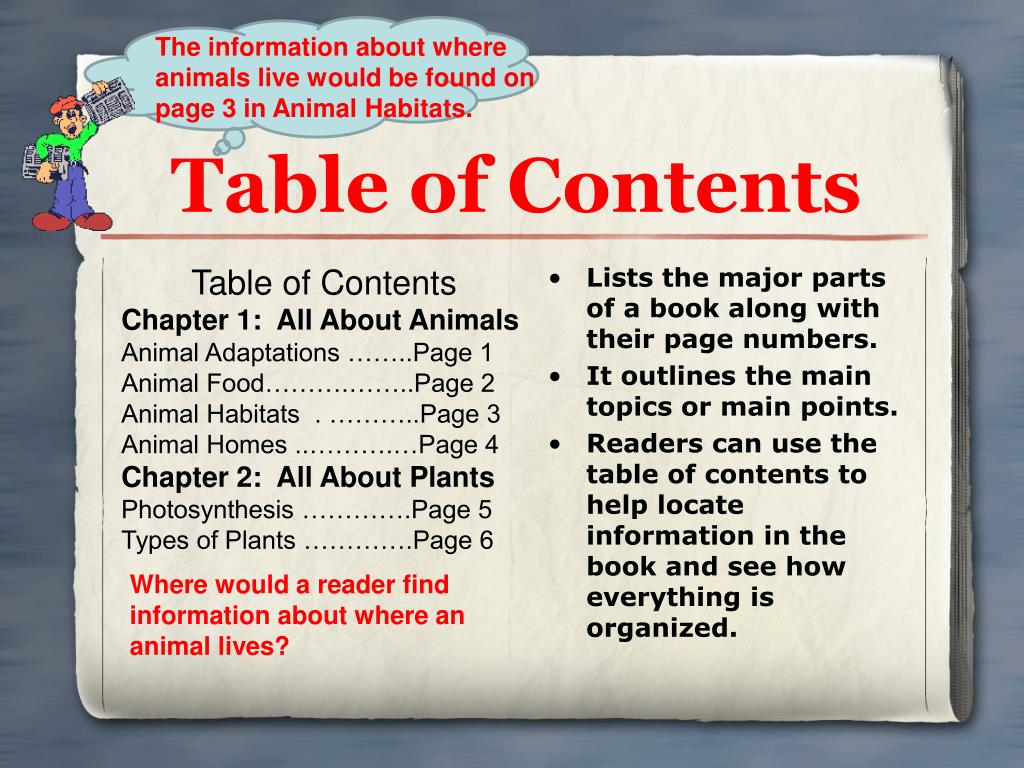The information about where animals live would be found on page 3 in Animal Habitats.