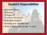 student s responsibilities