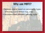 why use mbti