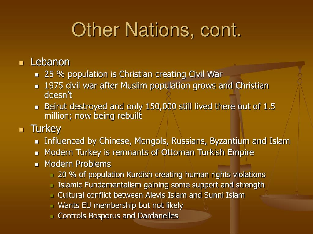 Other Nations, cont.