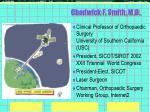 chadwick f smith m d
