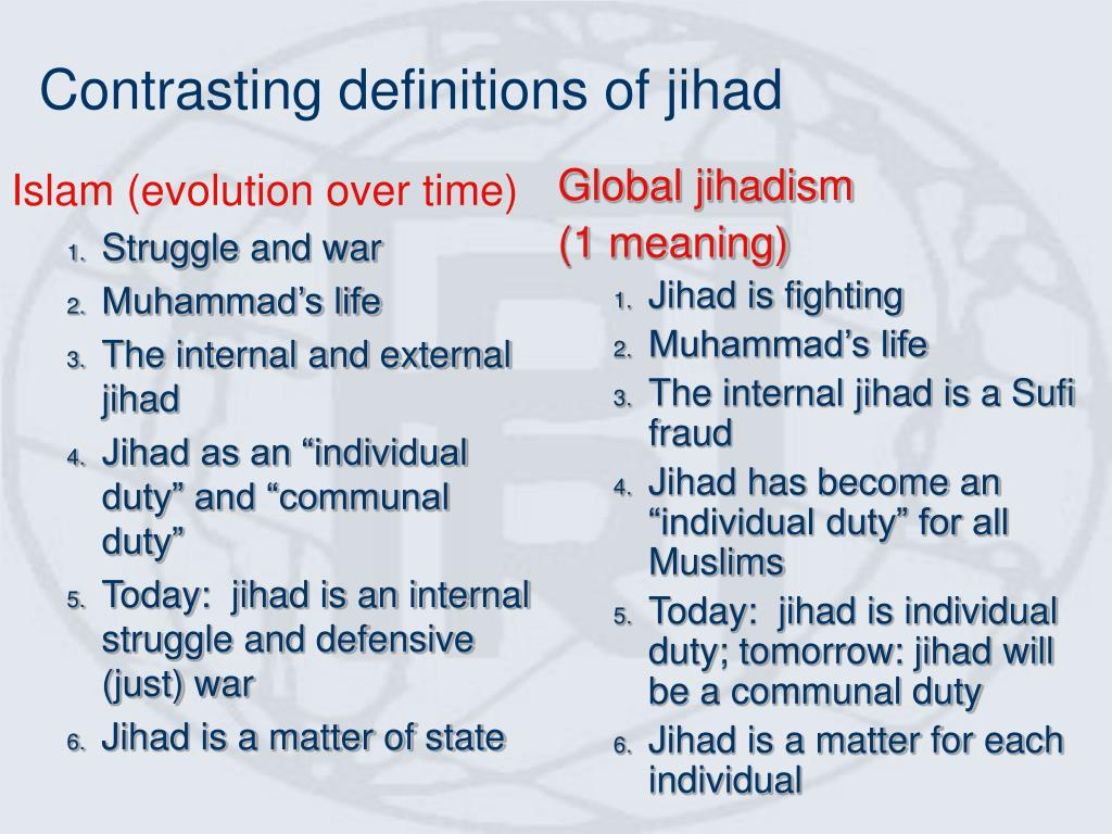 Contrasting definitions of jihad