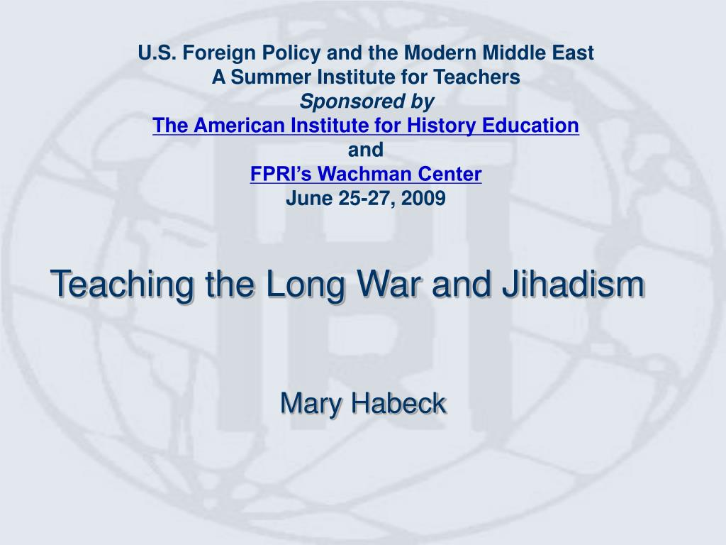 teaching the long war and jihadism l.