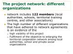 the project network different organizations