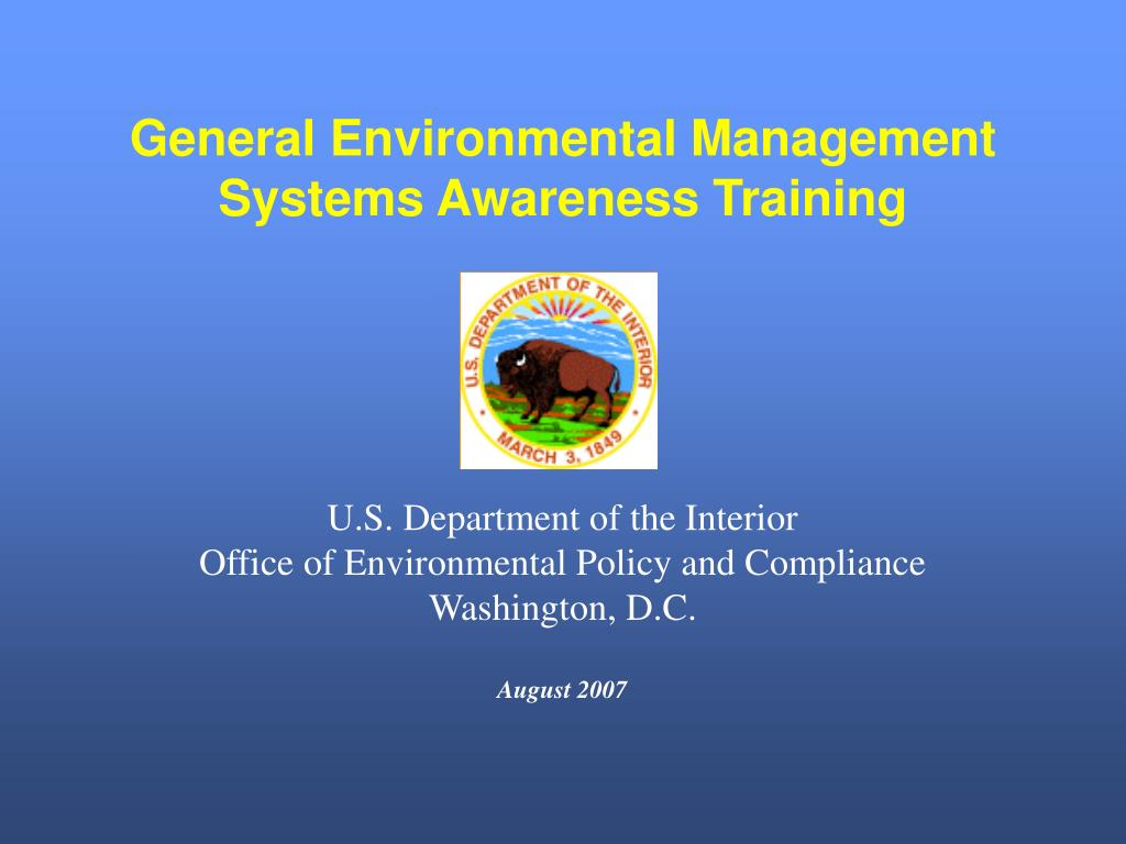 general environmental management systems awareness training l.