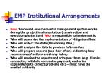 emp institutional arrangements