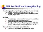 emp institutional strengthening
