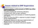 issues related to emp supervision