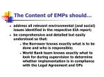 the content of emps should