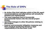 the role of emps