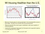 wi housing healthier than the u s
