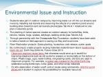 environmental issue and instruction4