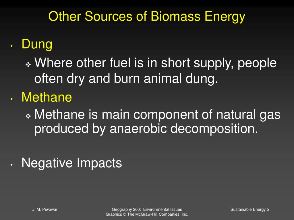 Other Sources of Biomass Energy