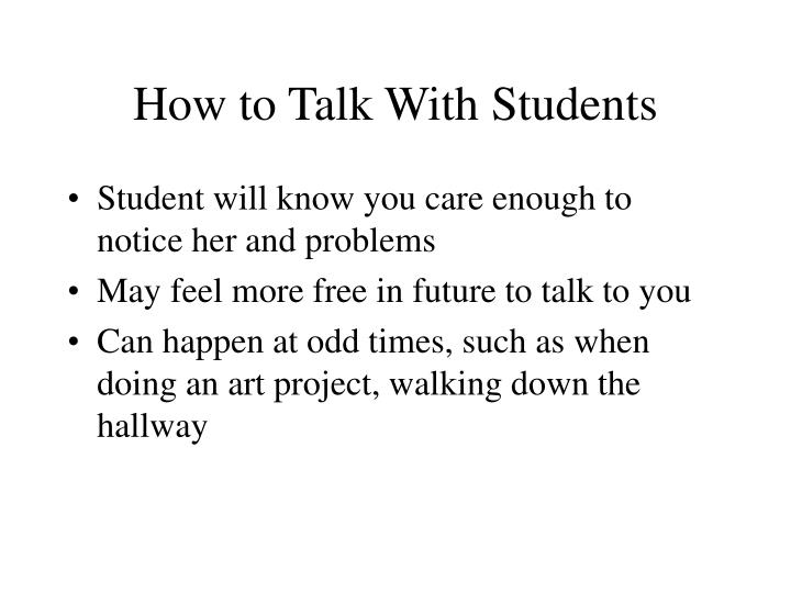 How to talk with students3