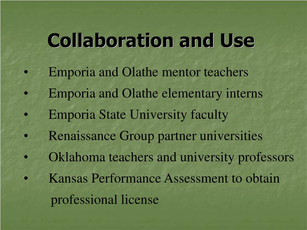 Collaboration and Use
