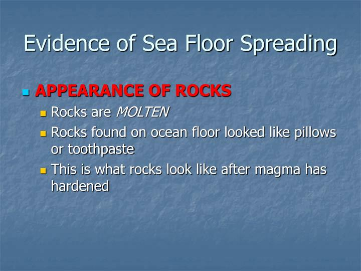Ppt 82 continental drift theory and sea floor spreading for Evidence for sea floor spreading has come from