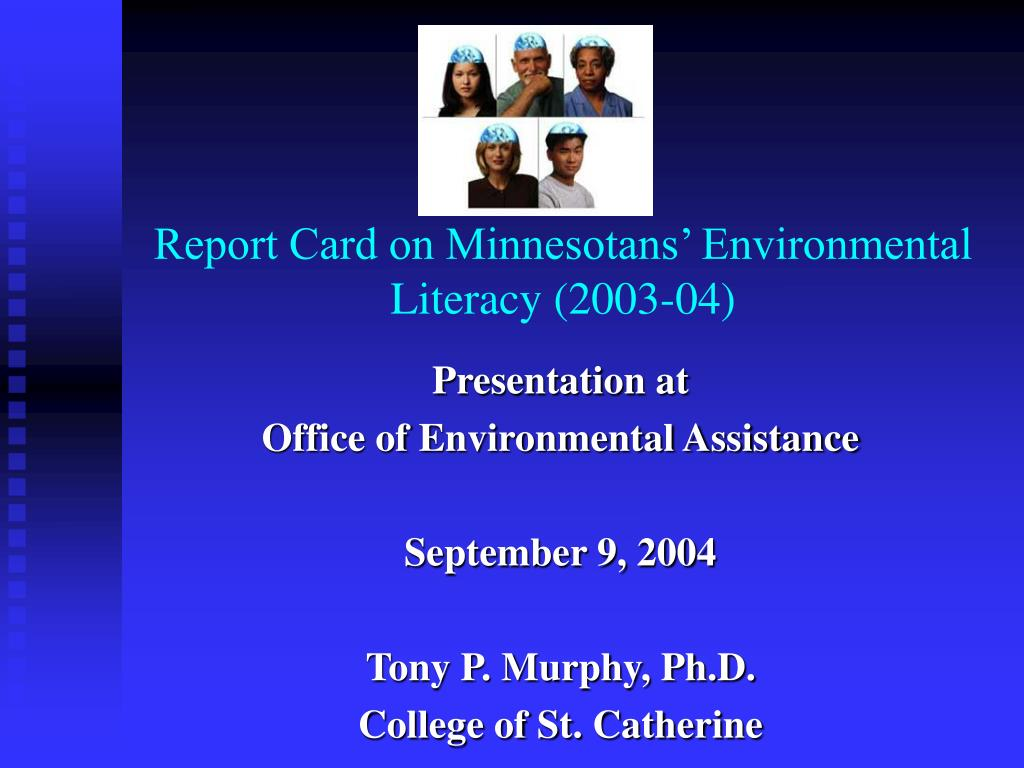 report card on minnesotans environmental literacy 2003 04 l.