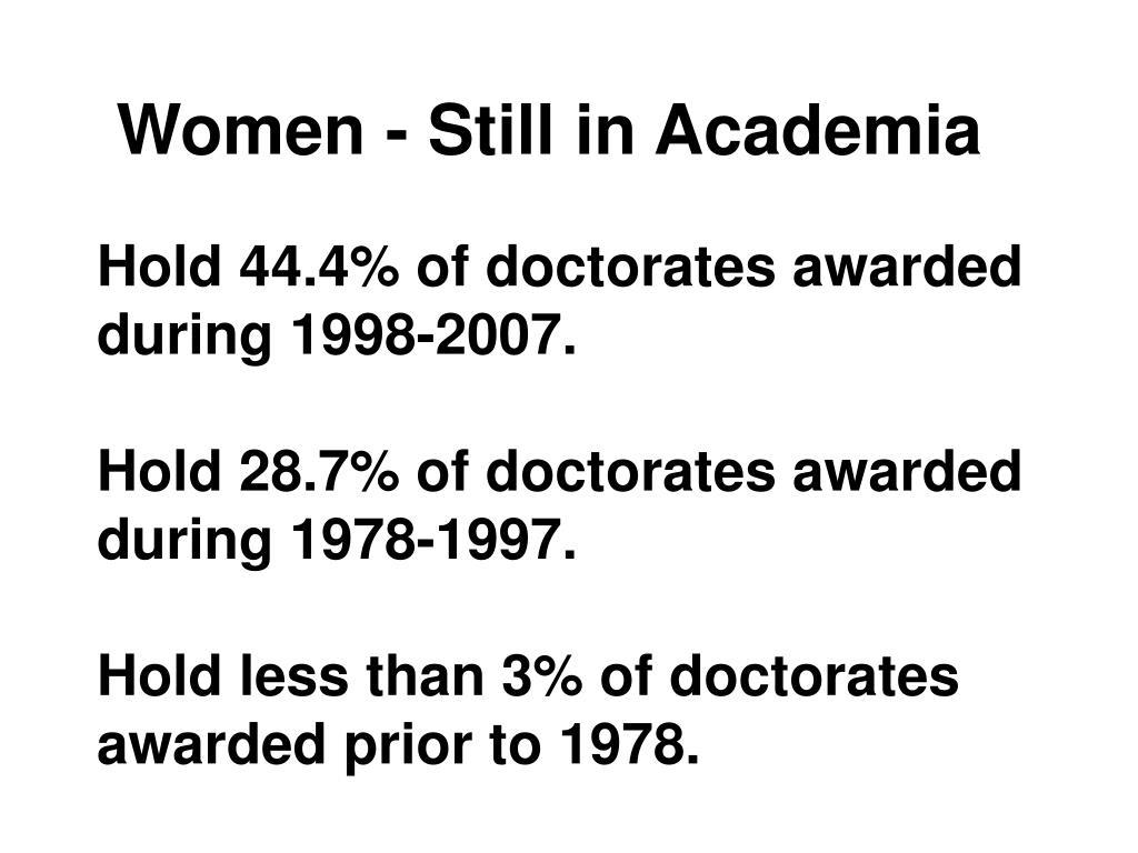 Women - Still in Academia