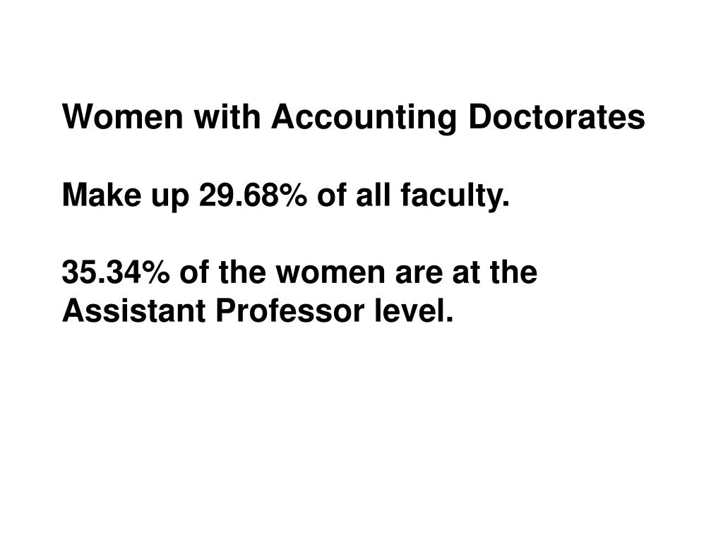 Women with Accounting Doctorates