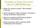 examples of action items from recent v rems meeting