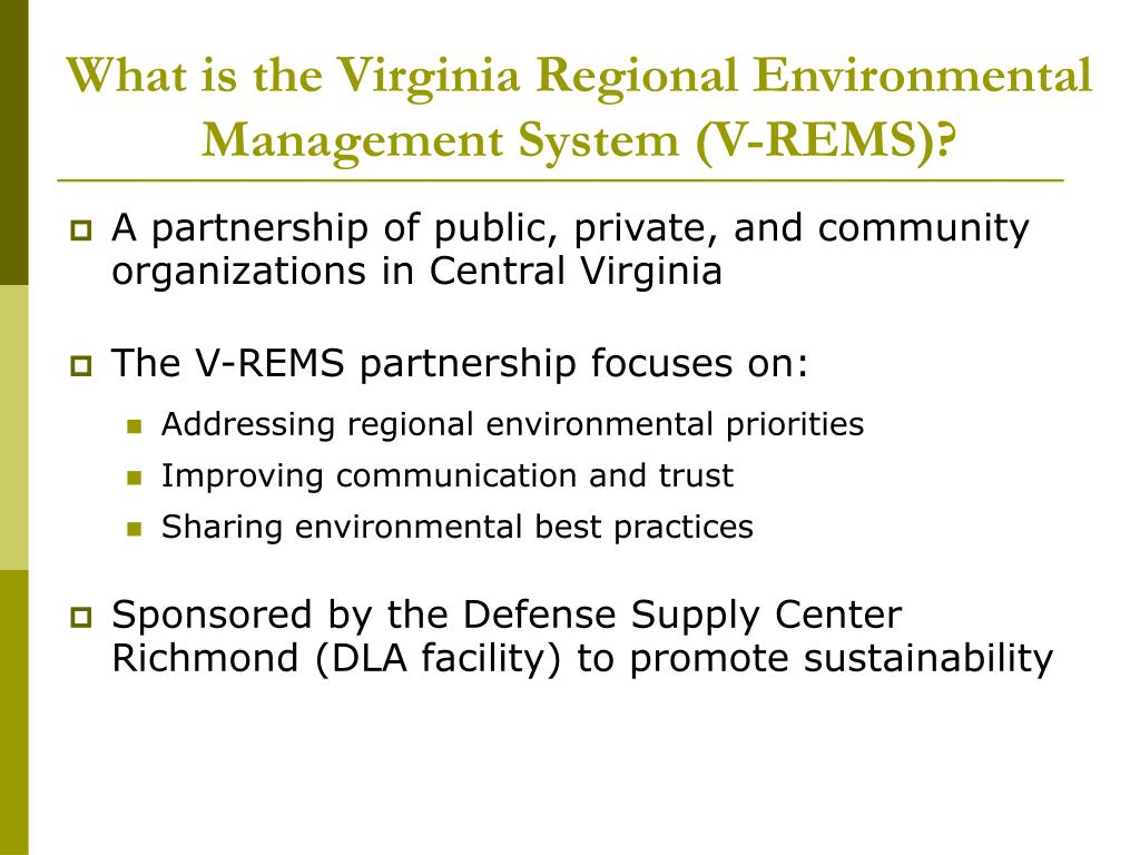 What is the Virginia Regional Environmental