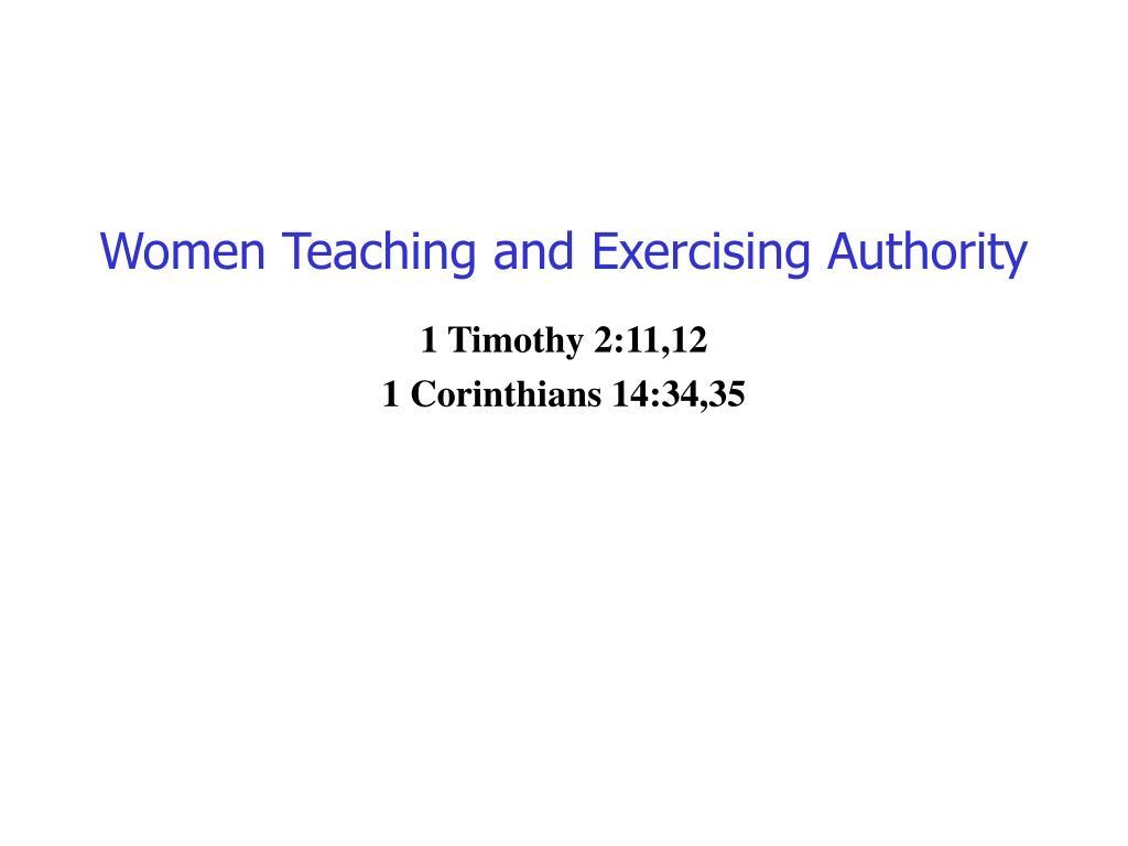 women teaching and exercising authority