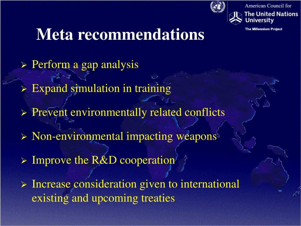 Meta recommendations
