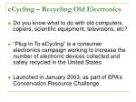 ecycling recycling old electronics