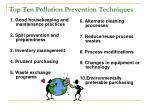 top ten pollution prevention techniques