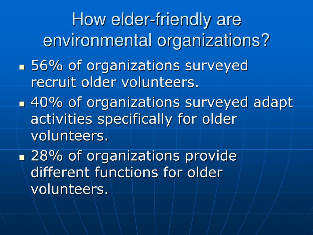 How elder-friendly are environmental organizations?