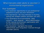 what motivates older adults to volunteer in environmental organizations