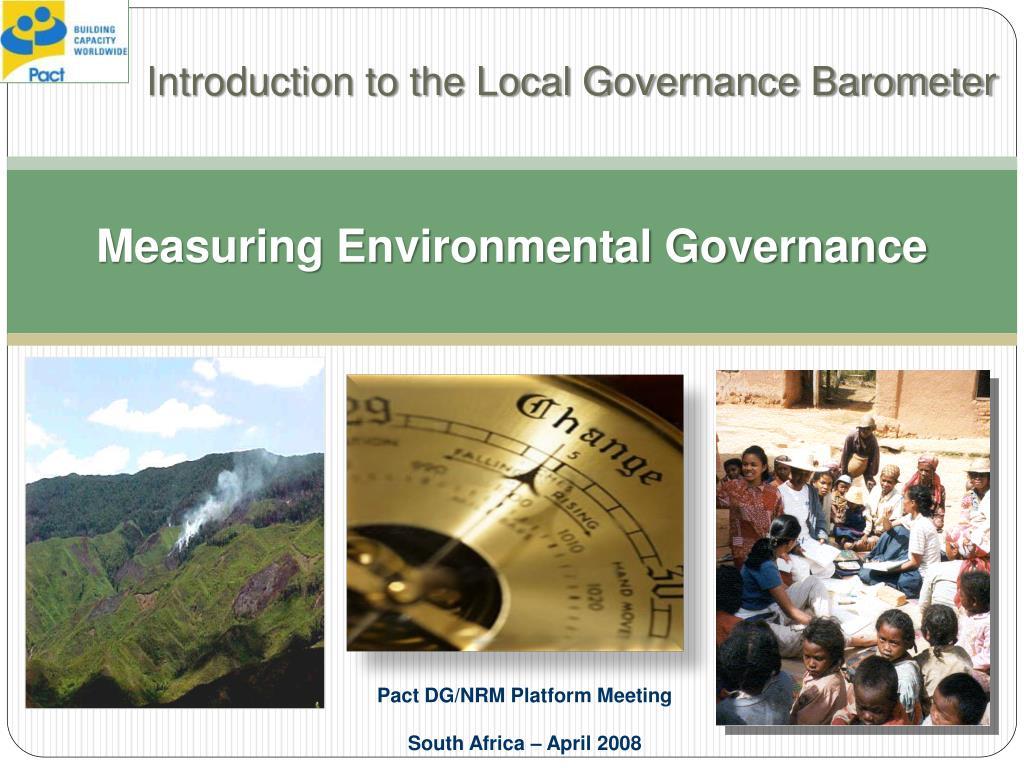 measuring environmental governance l.