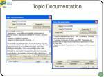 topic documentation